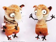 089 Crochet Pattern - Funny Cat with wire frame - Amigurumi PDF file by Pertseva CP