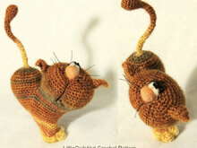 028 Crochet Pattern - Cat heart ValentinCat - Amigurumi PDF file Valintine's day by Pertseva CP