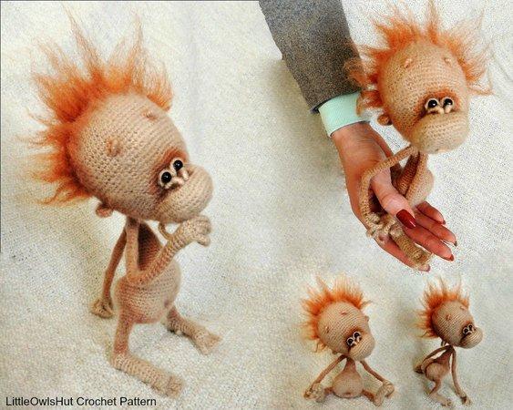 Crochet pattern Little monkey! PDF Ternura Amigurumi English ... | 450x563