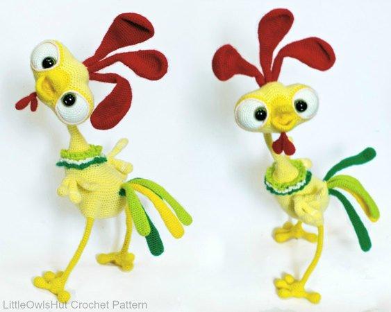 Amigurumi Crocheted amigurumi rooster (rooster amigurumi ... | 450x563