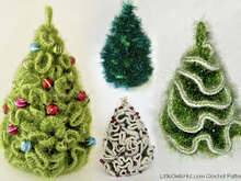 096 Crochet Pattern - 5 variants of Brainy X-mas Christmas tree - Amigurumi PDF file by Pertseva CP