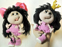 041 Crochet Pattern - Princess Doll - Amigurumi Toy PDF file by Pertseva CP