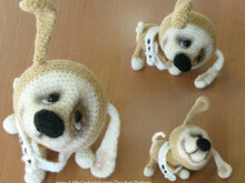 022 Crochet Pattern - Puppy dog with wire frame - Amigurumi PDF file by Pertseva CP