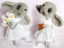 097 Crochet Pattern  + Knitting (dress) - Mouse Sofia - Amigurumi PDF file by Pertseva CP