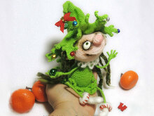 064 Crochet Pattern - Doll Marie the Christmas tree - Amigurumi PDF file by Pertseva CP