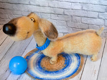 170 Crochet Pattern - Dog Dachshund Coconut - Amigurumi soft toy PDF file by Ogol CP
