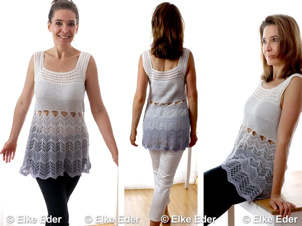 Top häkeln // Minikleid / Kleid mit Mustermix