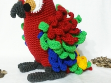 crochet pattern, Ciro the parrot PDF deutsch- english- dutch. ternura amigurumi