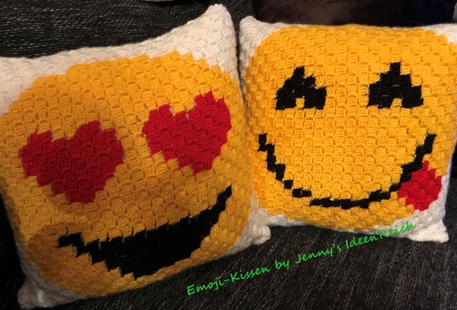 Häkelanleitungpdf Zählmuster C2c Emoji Kissen