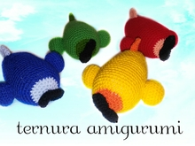 Crochet pattern of the airplane PDF english- deutsch- dutch ternura amigurumi
