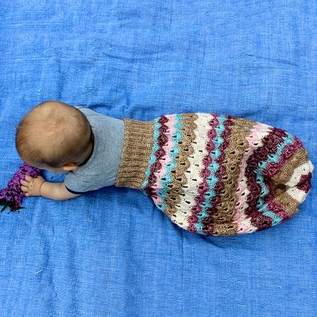 Pucksack Eule für Babys häkeln - Anleitung