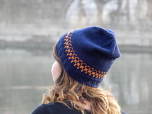 "Knit beanie in stranded colorwork ""Genova"", child and adult sizes"