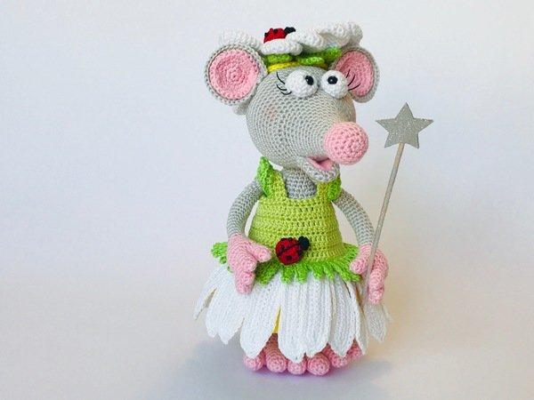 Maus Häkeln Blumenfee Kostüm Diy