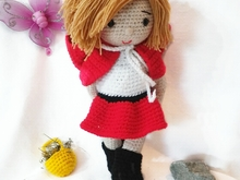 Crochet pattern of doll Sarah little Red Riding Hood PDF english- deutsch- dutch ternura amigurumi