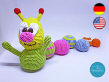 Amigurumi Crochet Pattern Caterpillar