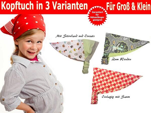 Kopftuch in 3 Variationen- Für Babys, Kinder & Erwachsene ...