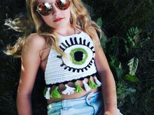 "Super cooles Top ""EYE"" crop Top Shirt"