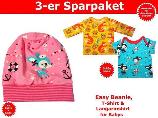 Schnittmuster Baby Shirt & Baby Mütze - inkl. Nähanleitung
