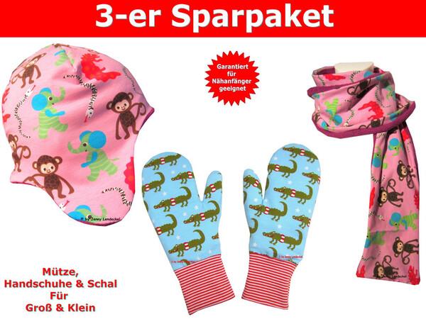 Handschuhe nähen / Mütze und Schal nähen