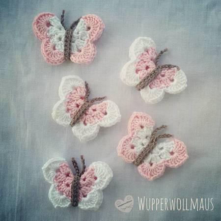 Lustige Schmetterlinge Häkeln Anleitung E Book