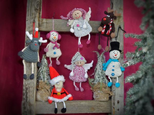 Weihnachtsdeko häkeln / 5 Motive im Sparset