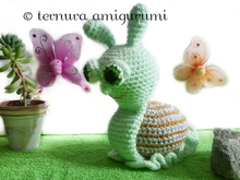 Snail crochet pattern PDF english- deutsch- dutch ternura amigurumi