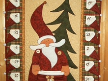 "Wandquilt  Adventskalender ""Santa Is Coming"""