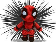 Deadpool Häkelanleitung Amigurumi PDF Deutsch - English