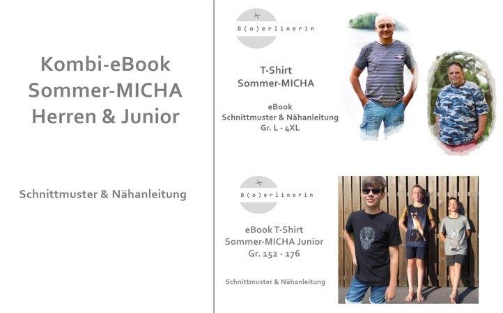 Kombi-E-Book Sommer-MICHA T-Shirt Herren & Junior