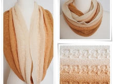 Sand and Time - infinity scarf for beginners