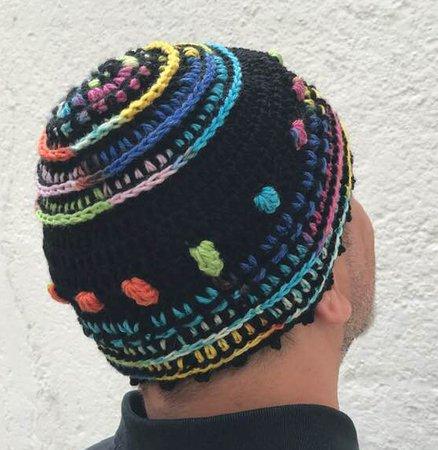 Mütze Häkeln Reliefstäbchen Muster
