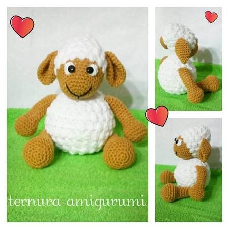 Crochet pattern of sheep PDF english-deutsch-dutch ternura amigurumi