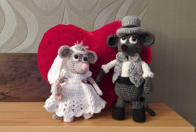 Häkelanleitung für Gabis Mäuse (Hochzeit) Miss Sophie und Sir Henry jr.
