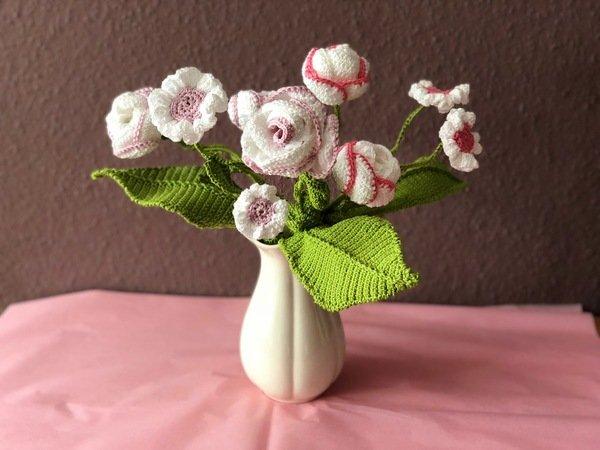Häkelanleitung Für Einen Blumenstrauß