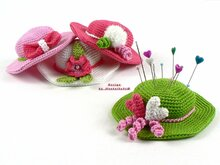 Deco-Hats / Pincushion -- Crochet Pattern by Haekelkeks®