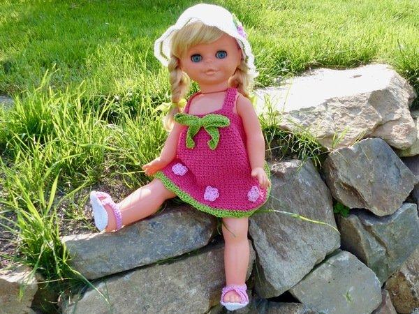 """Sommerkleid """"Peaches"""", Puppenkleidung für 35 cm, 43 cm und 48 cm ..."""