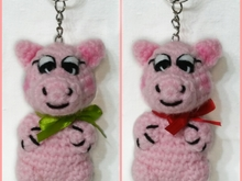 Pattern Keychain Little PIG PDF english- deutsch. Ternura Amigurumi