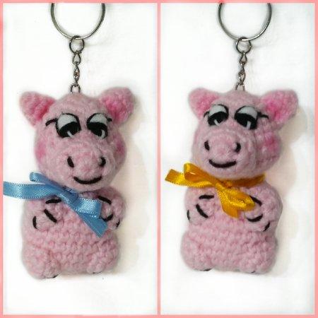 Amigurumi doll gift/ Pig keychain/Amigurumi cute pig/Pig doll ... | 450x450