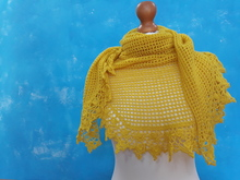 Triangle Shawl Summer Break