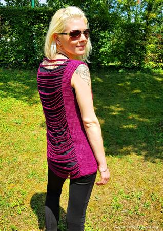 Crochet pattern for sleeveless top in all sizes - 2 wearing variants | Top FRONT#BACK Marina