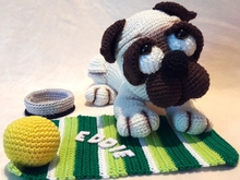"Crochet Pattern "" EDDIE"" The Pug"