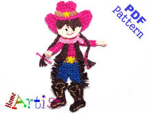 Cowgirl crochet pattern