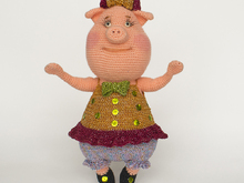Amigurumi pattern for Miss Gruntie pig. Crochet piggy tutorial