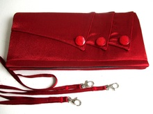 rote Satin Stoff Abend Tasche Schnittmuster PDF
