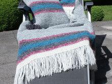 Patchwork Decke Stricken Warme Decke