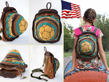 Turtle  Backpack Crochet Pattern