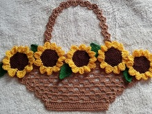 Basket of Sunflowers PDF Pattern