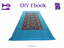 PDF E-Book Tutorial Table Runner / Table Cloth Mitered Hem