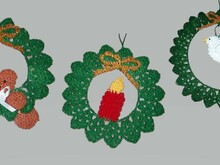 Wreath Ornaments PDF Pattern