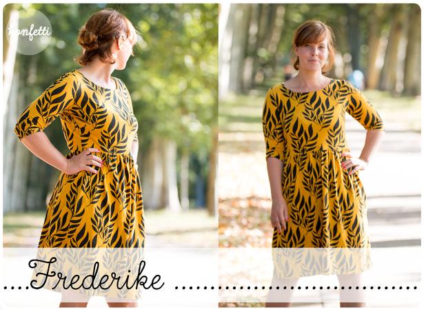 Frederike Damenkleid Gr.32-50 Schnittmuster ebook Sommerkleid Kleid